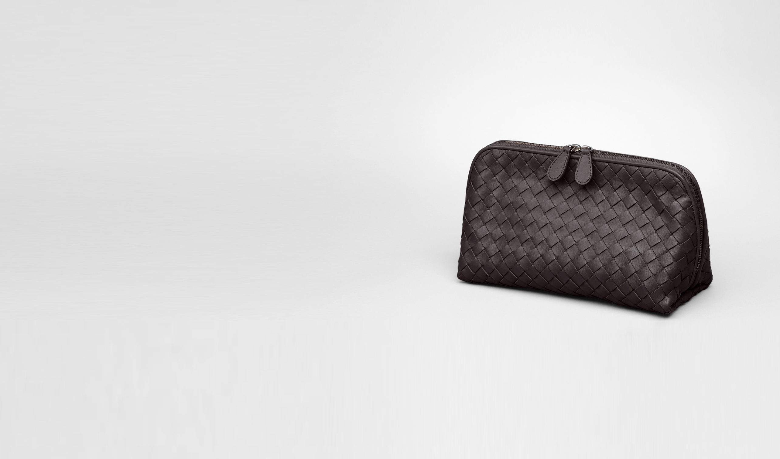 BOTTEGA VENETA Altro accessorio in pelle D Beauty Case Ebano in Nappa Intrecciata pl