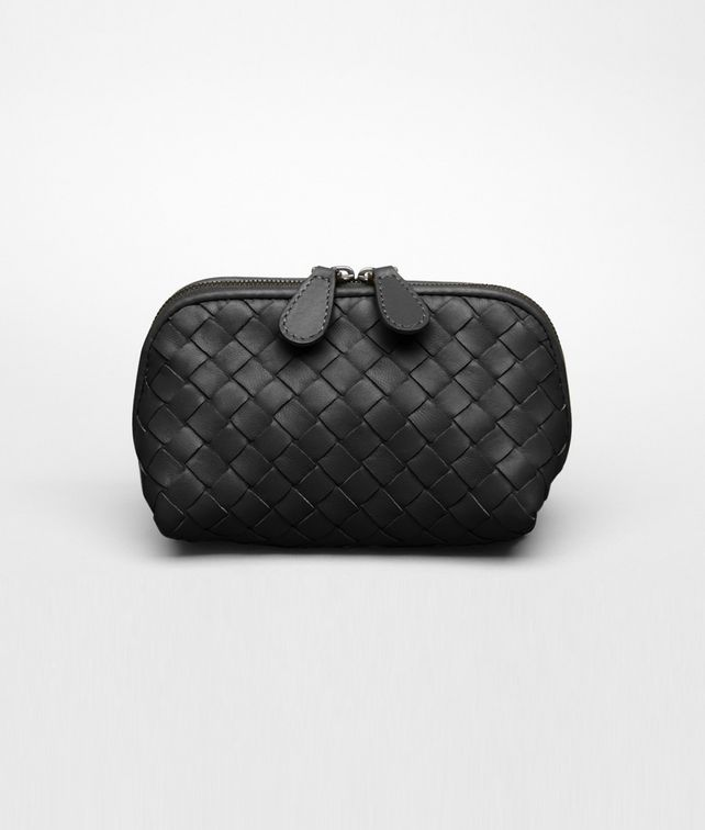 BOTTEGA VENETA Nero Intrecciato Nappa Cosmetic Case Other Leather Accessory D fp