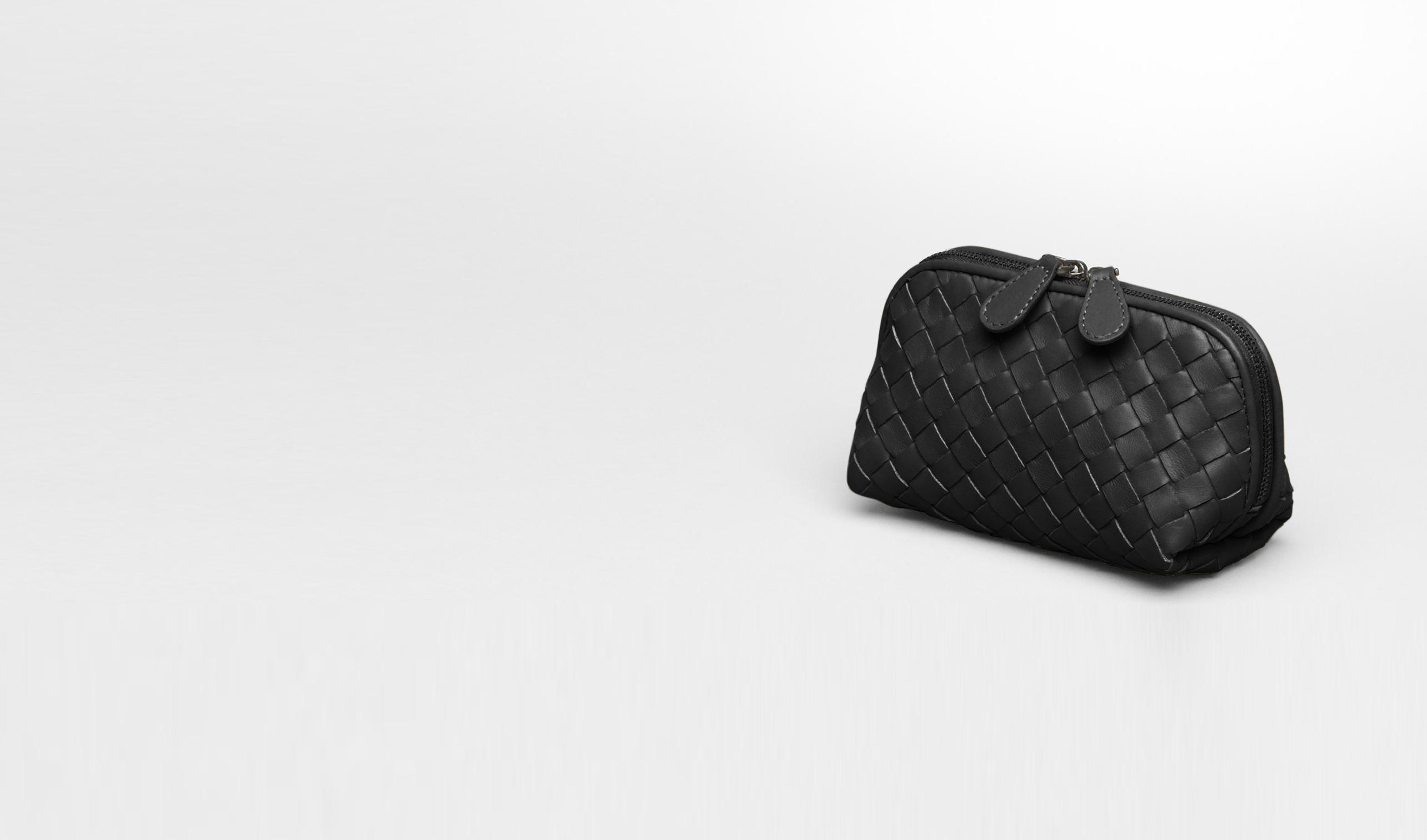 BOTTEGA VENETA Other Leather Accessory D Nero Intrecciato Nappa Cosmetic Case pl