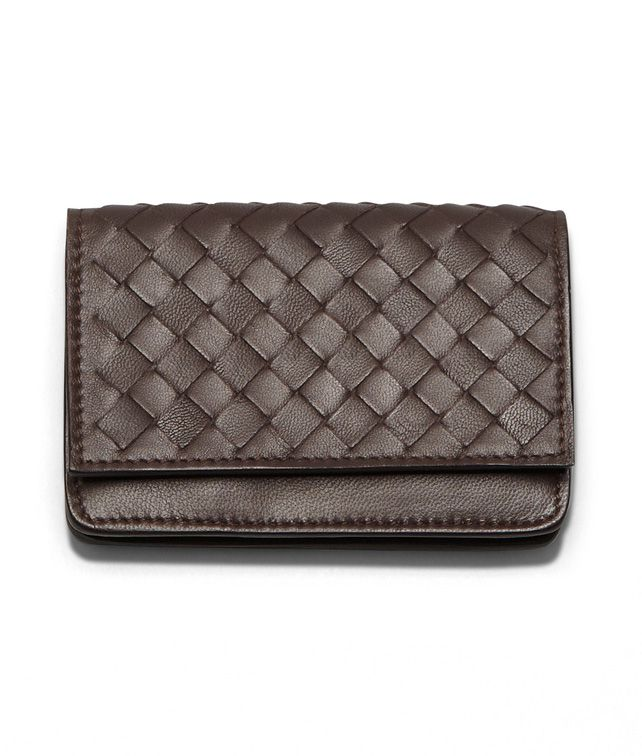 BOTTEGA VENETA CARD CASE IN EBANO INTRECCIATO NAPPA Card Case or Coin Purse U fp