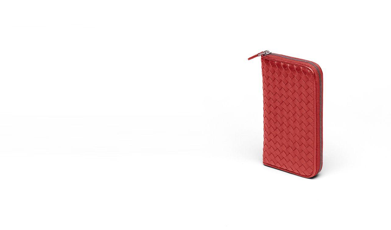 BOTTEGA VENETA Portemonnaie mit Zip D PORTEMONNAIE MIT ZIP AUS INTRECCIATO NAPPA IN BLOOD pl