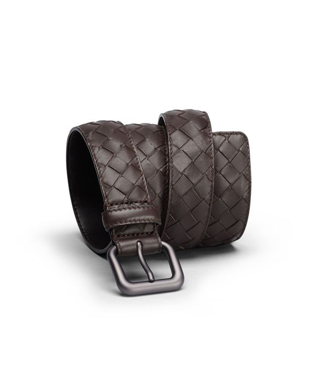 BOTTEGA VENETA BELT IN EBANO INTRECCIATO NAPPA Belt U fp