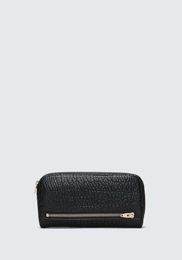 FUMO CONTINENTAL WALLET IN  BLACK PEBBLE LEATHER
