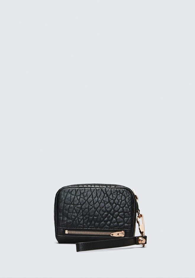 ALEXANDER WANG LARGE FUMO IN PEBBLED BLACK WITH ROSE GOLD SMALL LEATHER GOOD Adult 12_n_e