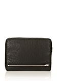 ALEXANDER WANG FUMO IPAD CASE IN  BLACK PEBBLE LEATHER WITH ROSEGOLD TECH Adult 8_n_e