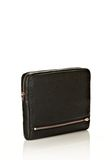 ALEXANDER WANG FUMO IPAD CASE IN  BLACK PEBBLE LEATHER WITH ROSEGOLD TECH Adult 8_n_r