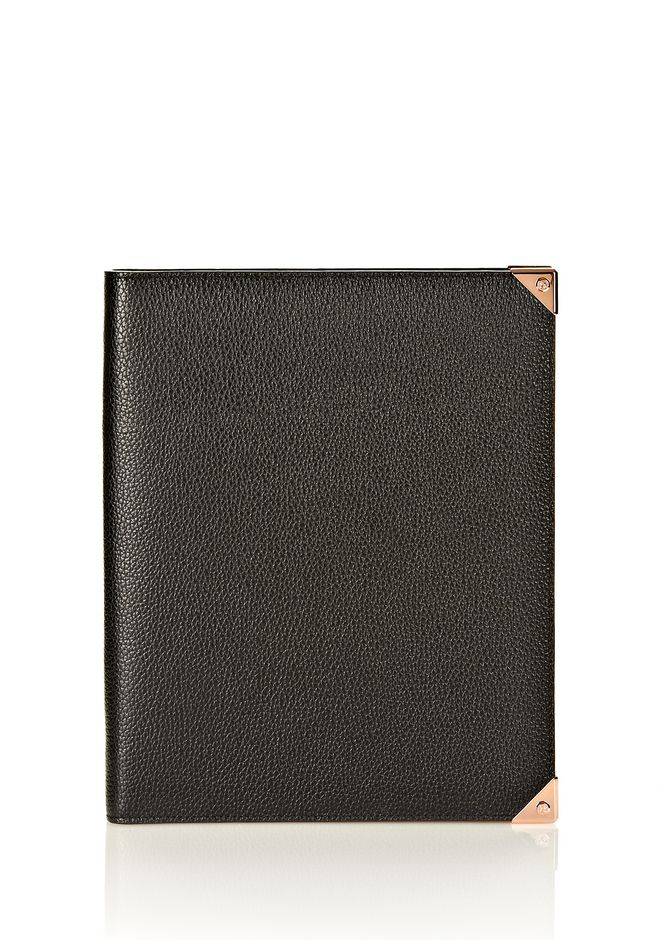 ALEXANDER WANG PRISMA IPAD CASE IN BLACK PEBBLE WITH ROSEGOLD TECH Adult 12_n_f