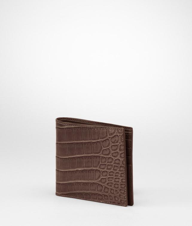 BOTTEGA VENETA Soft Crocodile Fume Wallet Wallet U fp
