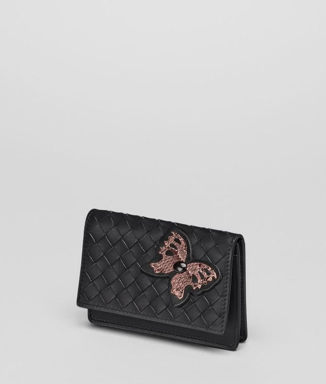 BOTTEGA VENETA Intrecciato Ayers Butterfly Card Case Card Case or Coin Purse D fp