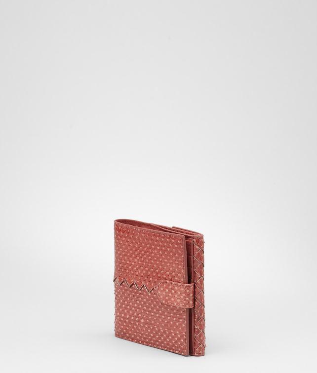 BOTTEGA VENETA Intrecciato Snakeskin Wallet Wallet D fp