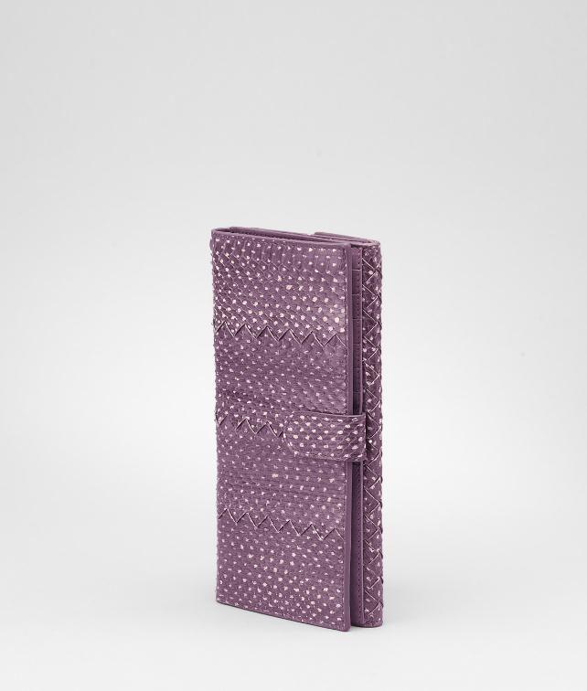 BOTTEGA VENETA Intrecciato Snakeskin Continental Wallet Wallet D fp