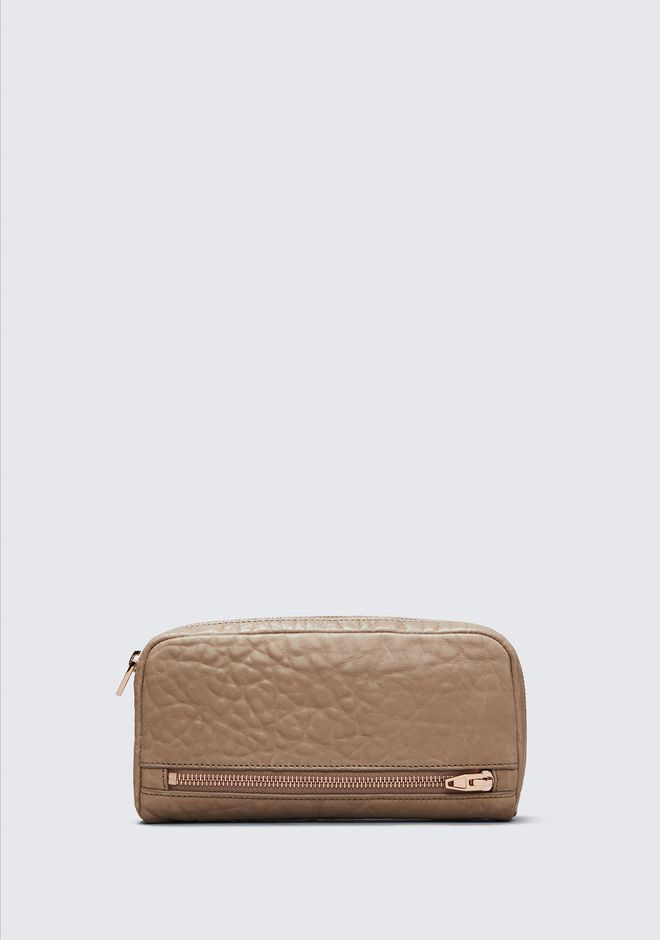 ALEXANDER WANG SMALL LEATHER GOODS Women FUMO CONTINENTAL WALLET IN LATTE WITH ROSE GOLD