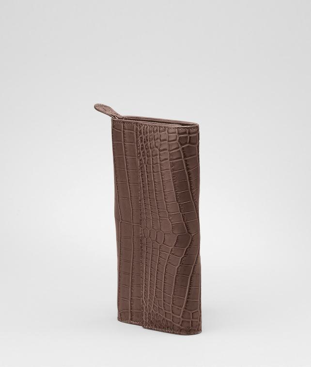 BOTTEGA VENETA Soft Crocodile Fumé Continental Wallet Wallet D fp