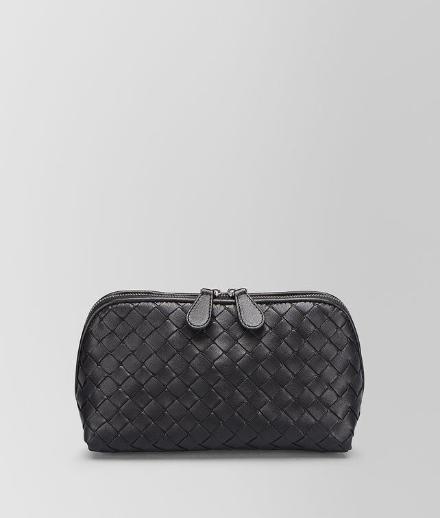 BOTTEGA VENETA MEDIUM COSMETIC CASE IN NERO INTRECCIATO NAPPA Other Leather Accessory D fp