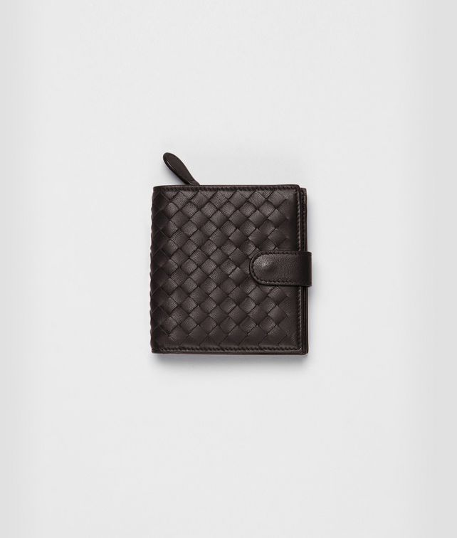 BOTTEGA VENETA Ebano Intrecciato Nappa Continental Wallet Mini Wallet or Coin Purse D fp