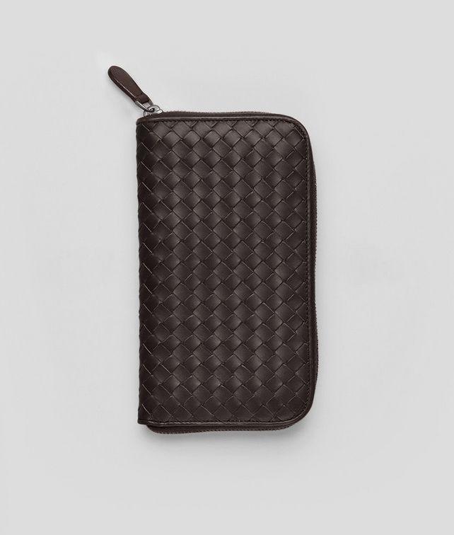 BOTTEGA VENETA Portafoglio Ebano in VN Intrecciato con Zip Portafoglio con Zip U fp