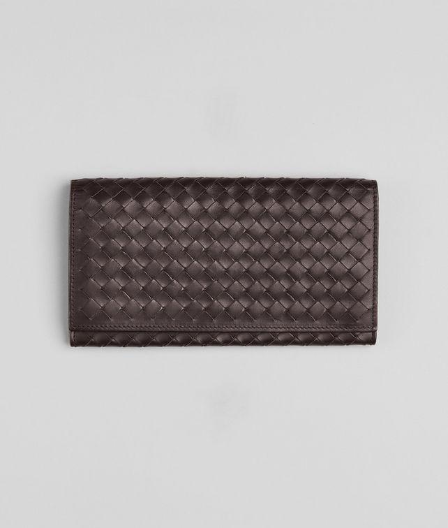 BOTTEGA VENETA Ebano Intrecciato VN Wallet Continental Wallet U fp
