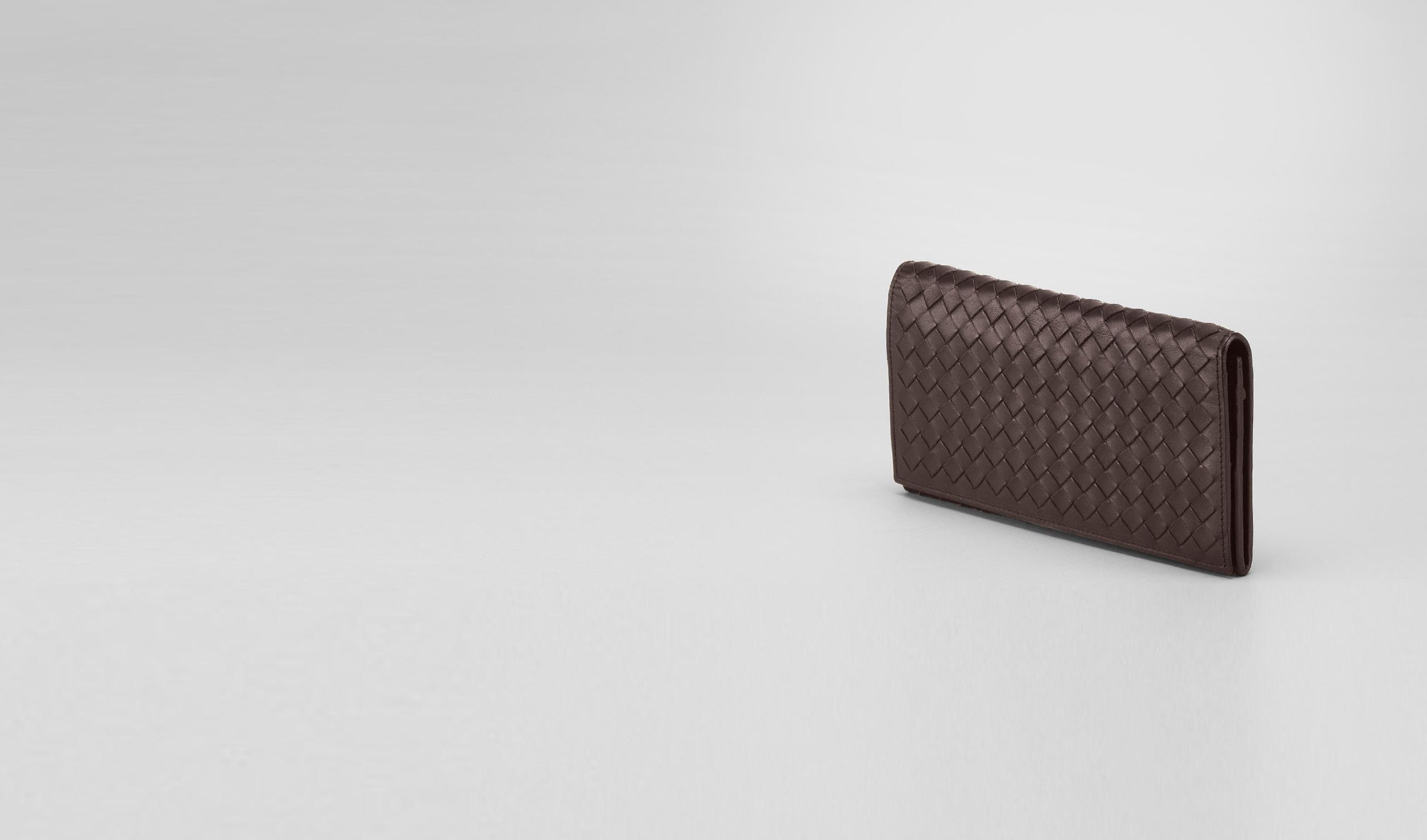 BOTTEGA VENETA Continental Wallet U Ebano Intrecciato VN Wallet pl