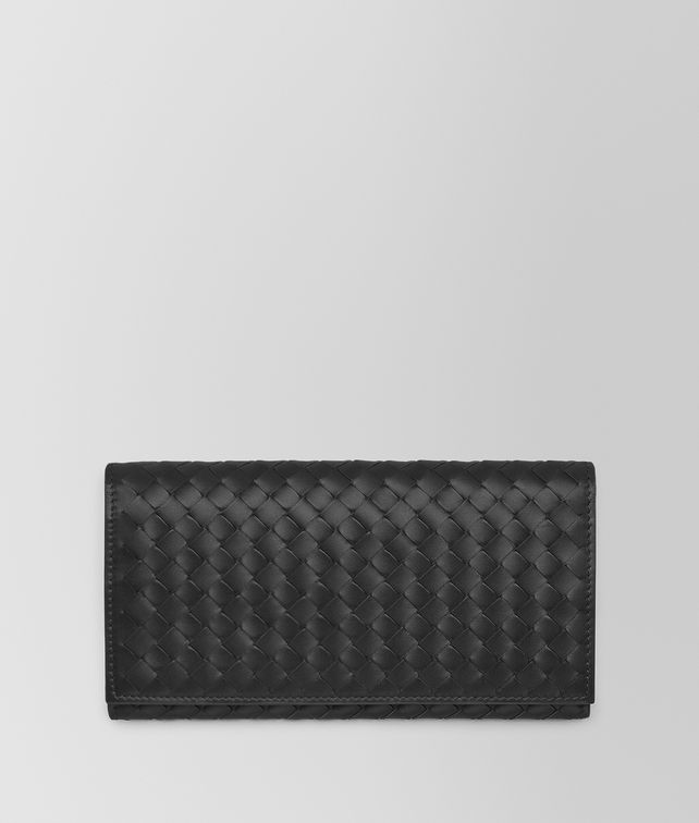 BOTTEGA VENETA CONTINENTAL WALLET IN NERO INTRECCIATO VN Continental Wallet Man fp