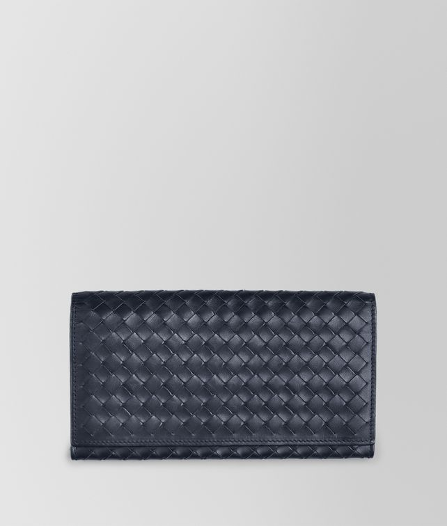 BOTTEGA VENETA LIGHT TOURMALINE INTRECCIATO CONTINENTAL WALLET Continental Wallet U fp