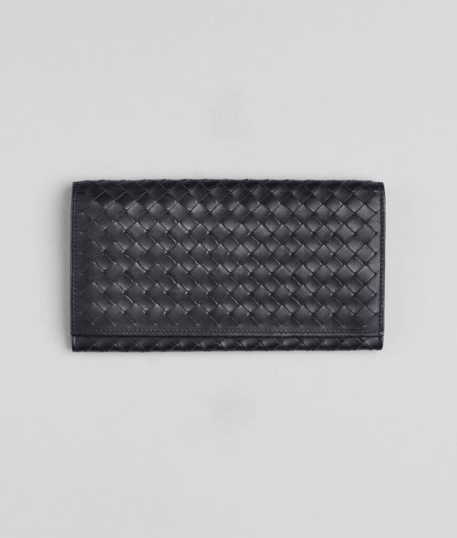 BOTTEGA VENETA Continental Wallet aus VN-Leder Intrecciato Ardoise Continental Portemonnaie U fp