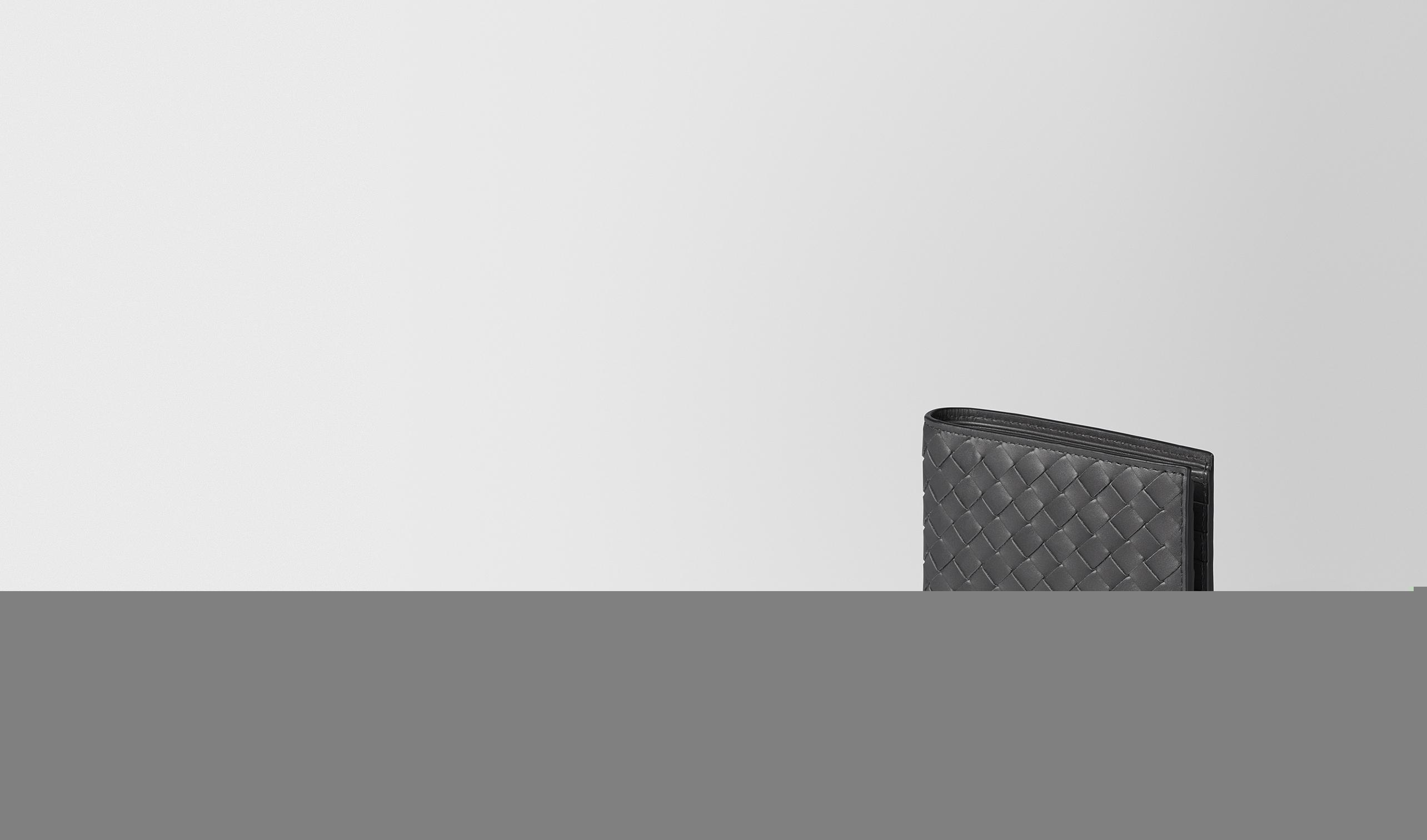 BOTTEGA VENETA Portafoglio bi-fold U Portafoglio Ardoise in VN Intrecciato pl