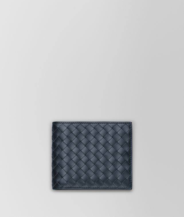 BOTTEGA VENETA BI-FOLD WALLET IN LIGHT TOURMALINE INTRECCIATO VN Bi-fold Wallet Man fp