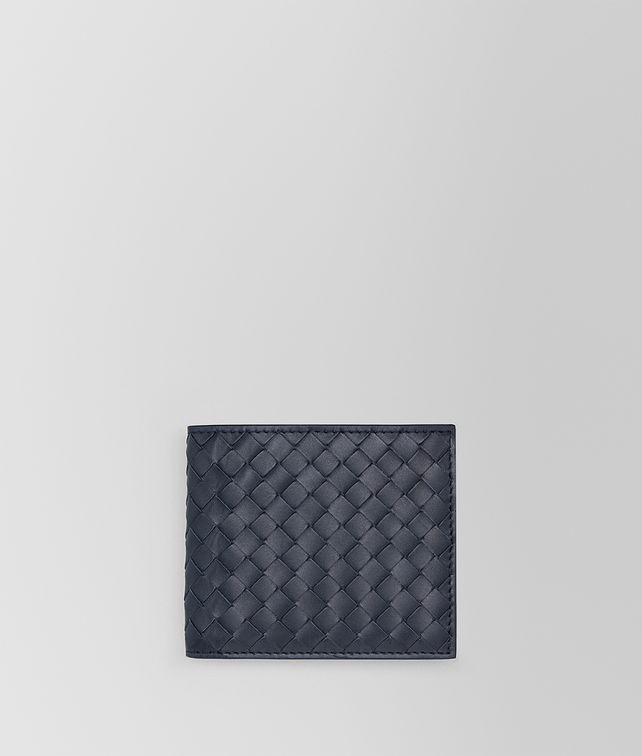 BOTTEGA VENETA BI-FOLD WALLET WITH COIN PURSE IN LIGHT TOURMALINE INTRECCIATO VN Small Wallet Man fp
