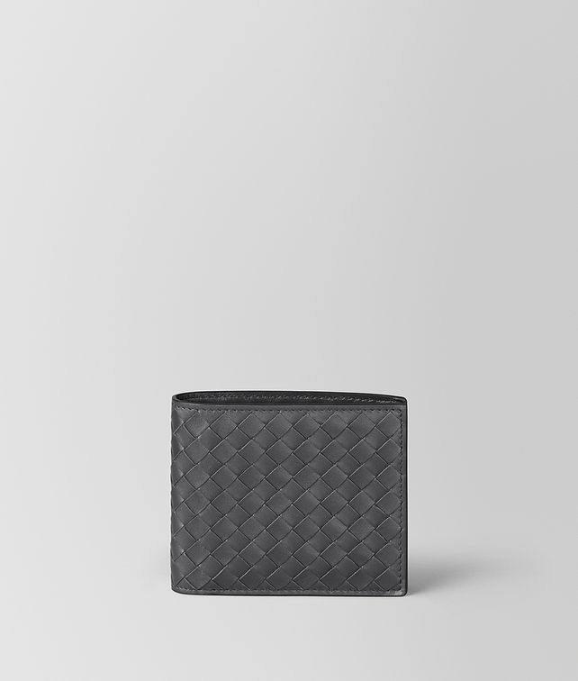 BOTTEGA VENETA BI-FOLD WALLET WITH COIN PURSE IN ARDOISE INTRECCIATO VN Bi-fold Wallet Man fp