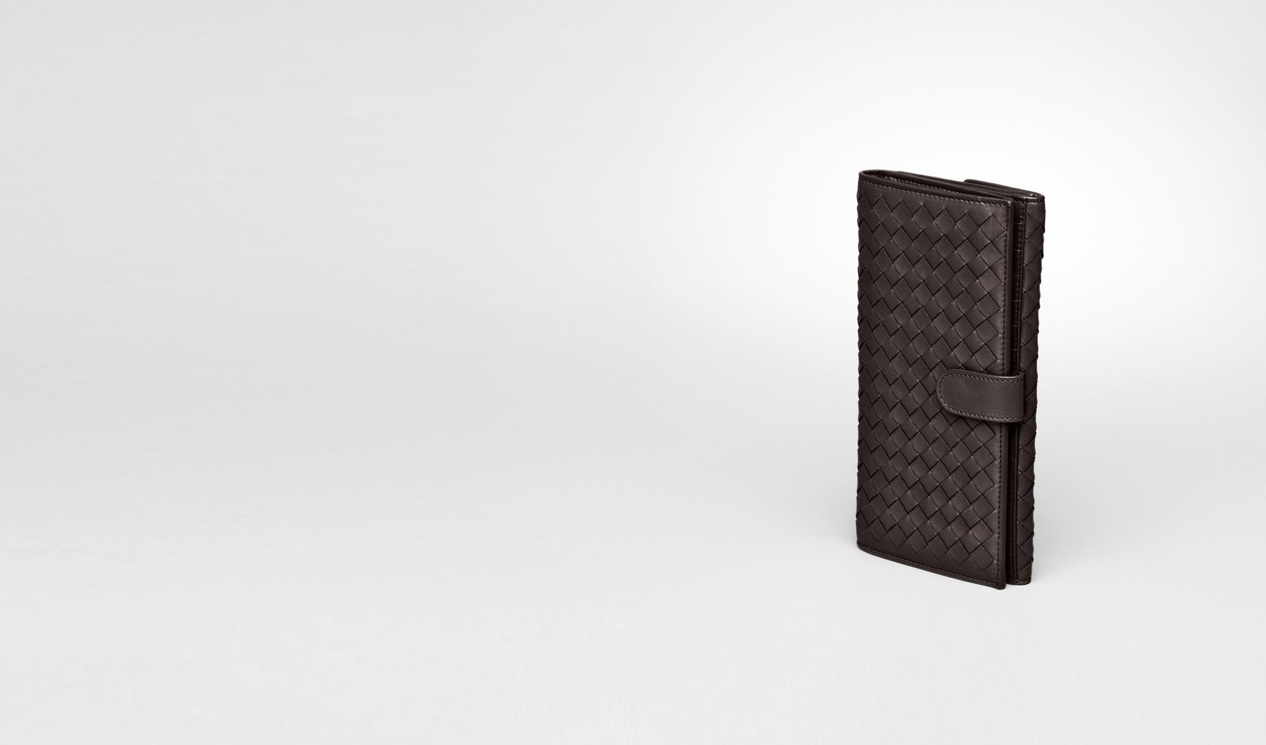 BOTTEGA VENETA Continental Wallet D Ebano Intrecciato Nappa Continental Wallet pl