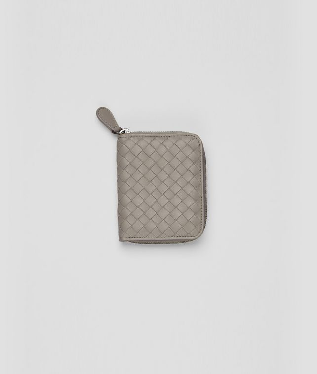 BOTTEGA VENETA Fume Intrecciato Nappa Coin Purse Mini Wallet or Coin Purse D fp