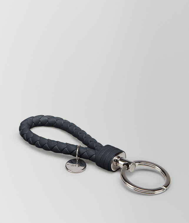 BOTTEGA VENETA TOURMALINE INTRECCIATO NAPPA KEY RING Keyring or Bracelets E fp