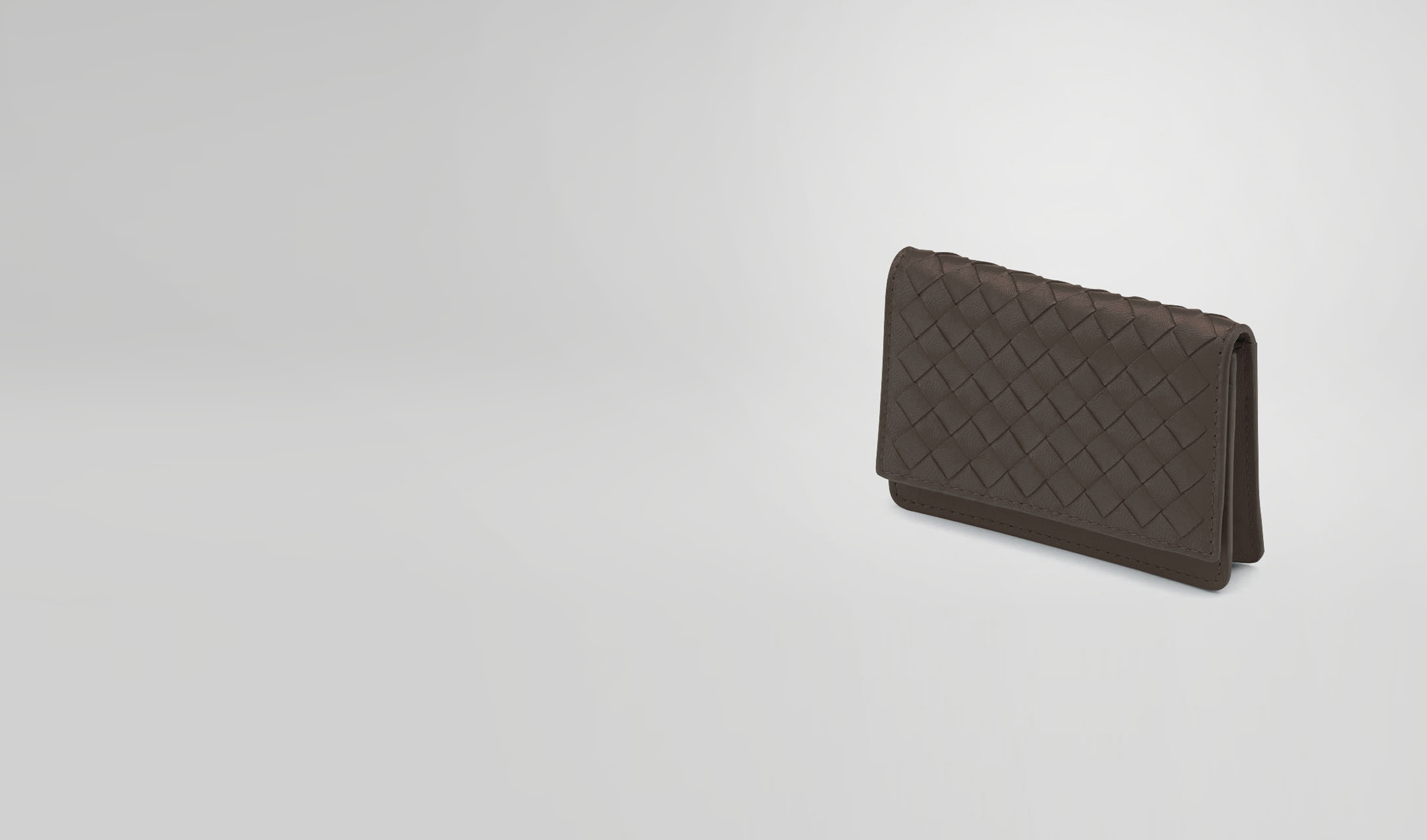 BOTTEGA VENETA Card Case or Coin Purse U Ebano Intrecciato Nappa Card Case pl