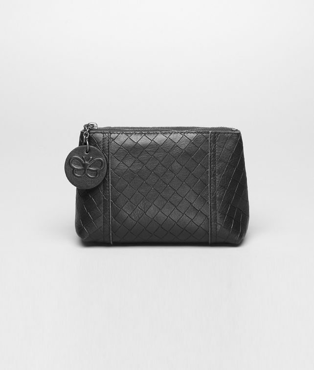 BOTTEGA VENETA Nero Intrecciomirage Cosmetic Case Other Leather Accessory D fp