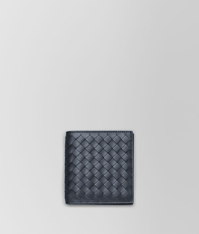 BOTTEGA VENETA SMALL BI-FOLD WALLET IN LIGHT TOURMALINE INTRECCIATO VN Bi-fold Wallet U fp
