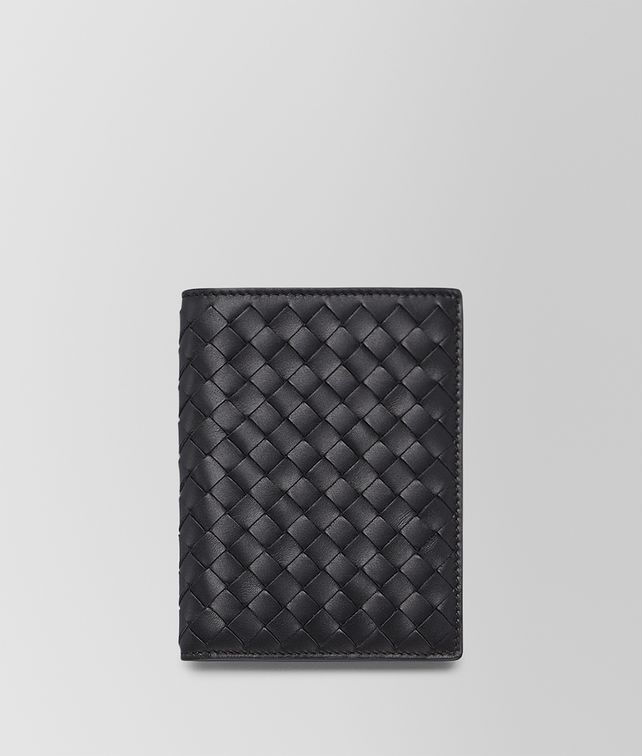 BOTTEGA VENETA BI-FOLD WALLET IN NERO INTRECCIATO VN Bi-fold Wallet Man fp