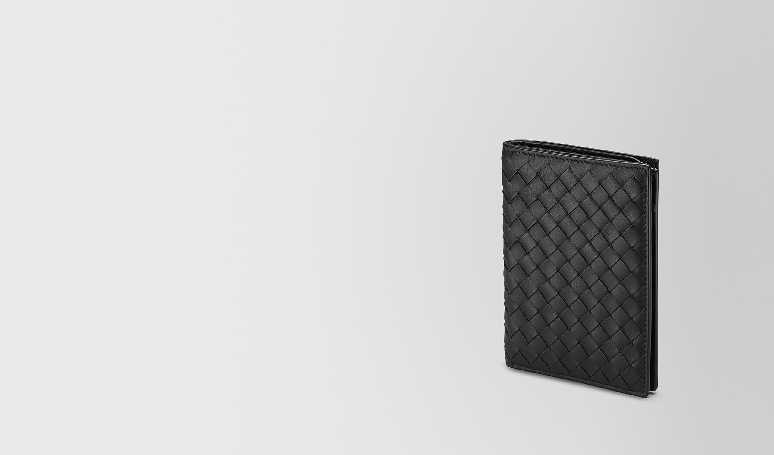 BOTTEGA VENETA Bi-fold Wallet U BI-FOLD WALLET IN NERO INTRECCIATO VN pl
