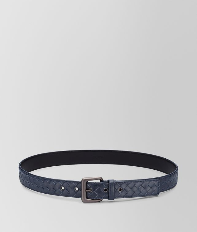 BOTTEGA VENETA LIGHT TOURMALINE INTRECCIATO BELT Belt U fp