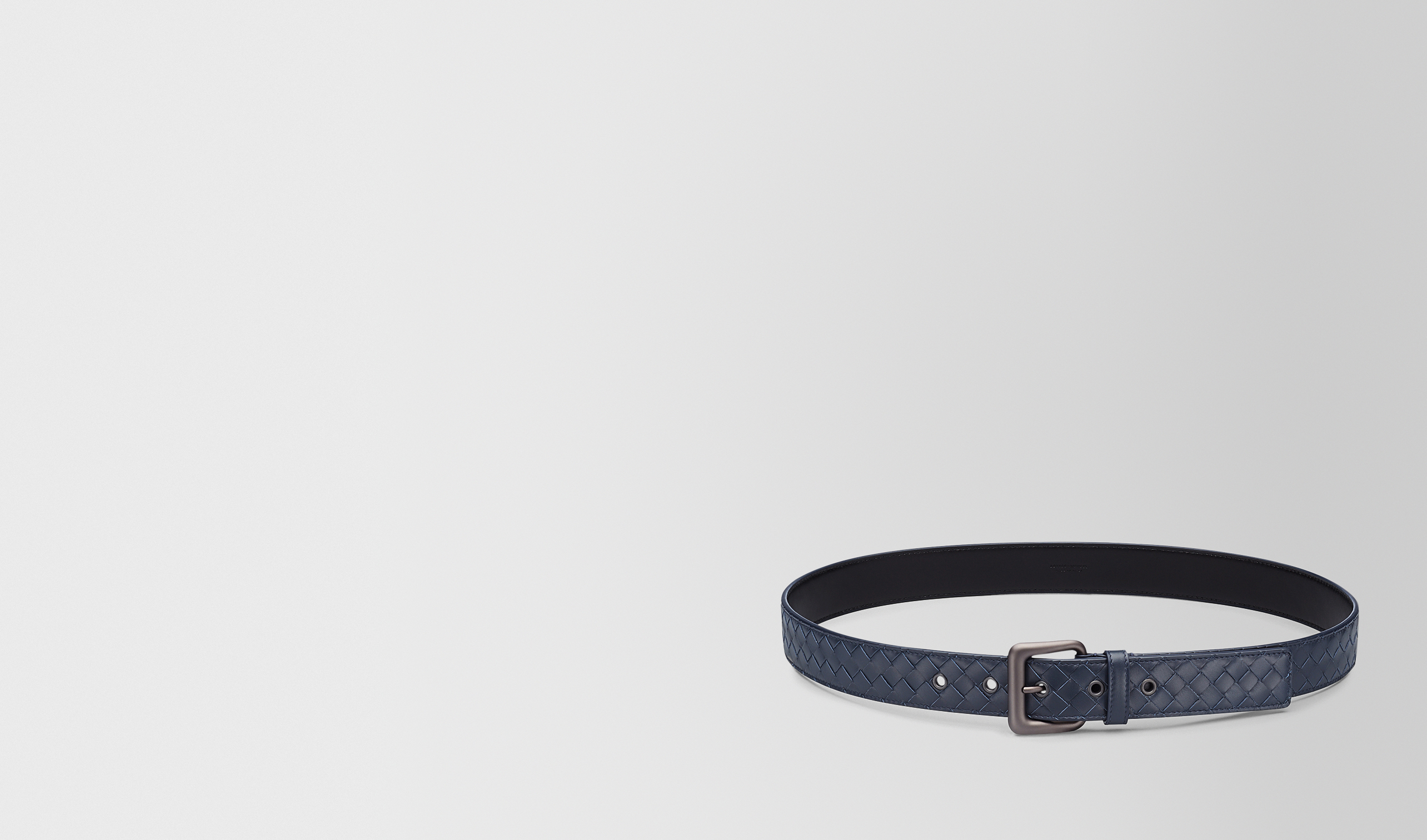 BOTTEGA VENETA Belt U BELT IN LIGHT TOURMALINE INTRECCIATO VN pl
