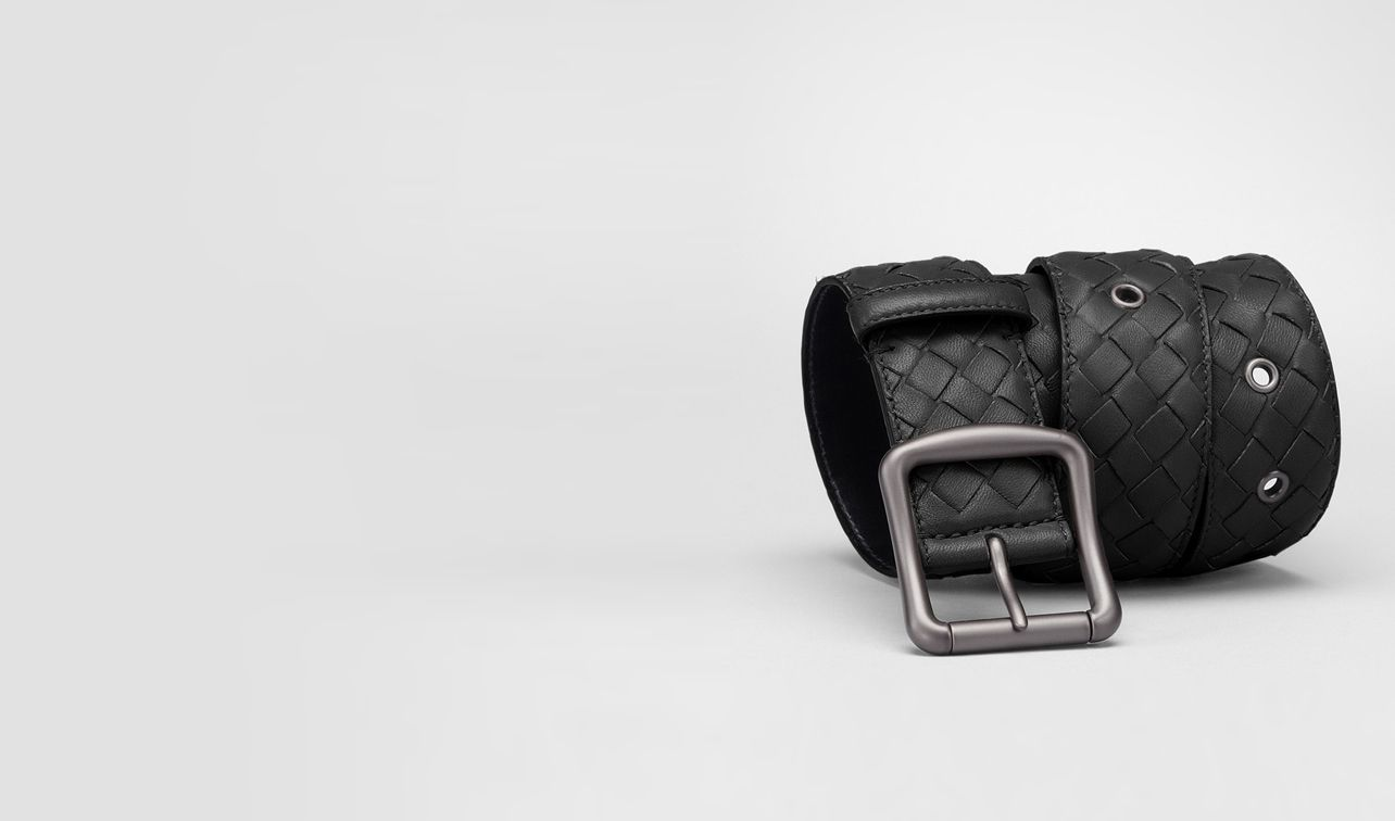 BOTTEGA VENETA Belt D Nero Intrecciato Nappa Belt pl