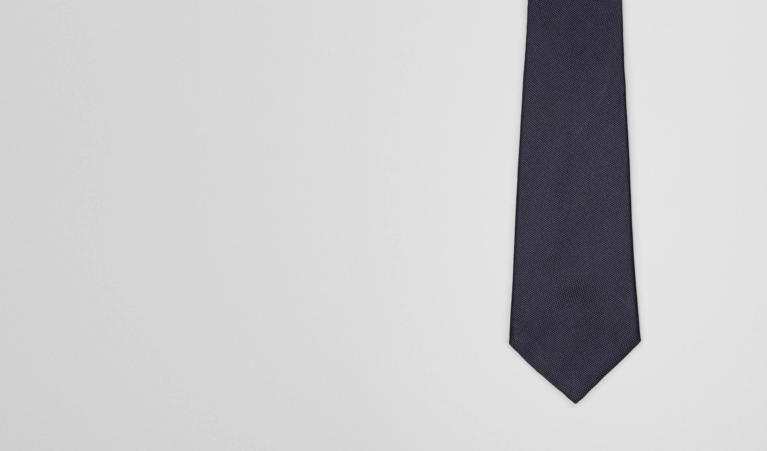 BOTTEGA VENETA Tie U Midnight Blue Silk Tie pl