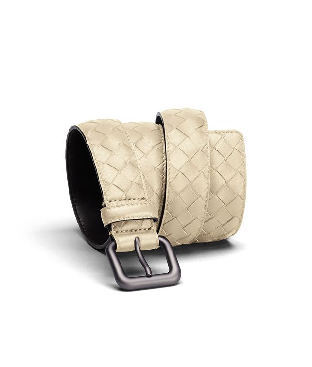 BOTTEGA VENETA BELT IN ANTIQUE INTRECCIATO NAPPA Belt U fp