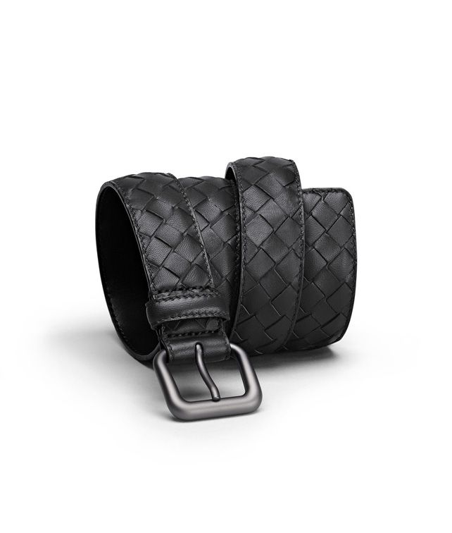 BOTTEGA VENETA BELT IN NERO INTRECCIATO NAPPA Belt U fp
