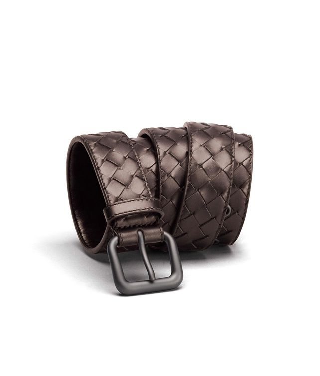 BOTTEGA VENETA BELT IN EBANO INTRECCIATO VN Belt U fp