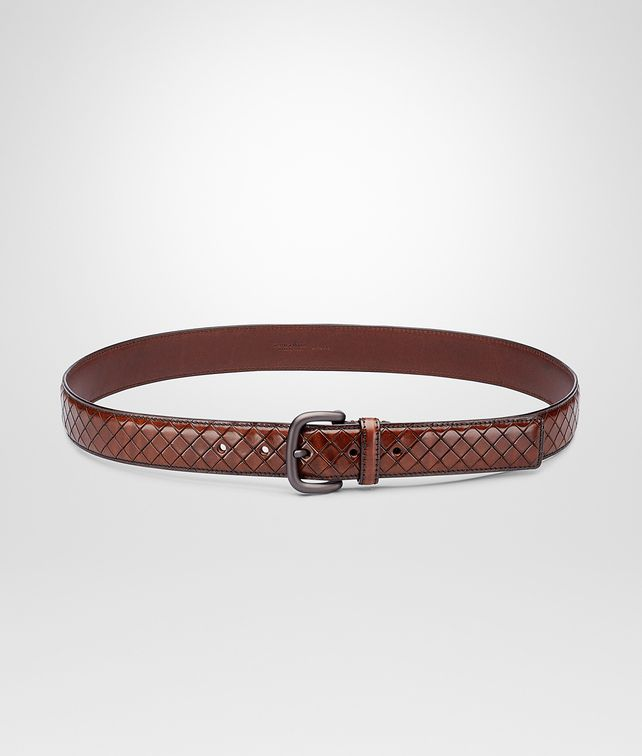 BOTTEGA VENETA BELT IN EBANO CALF Belt U fp