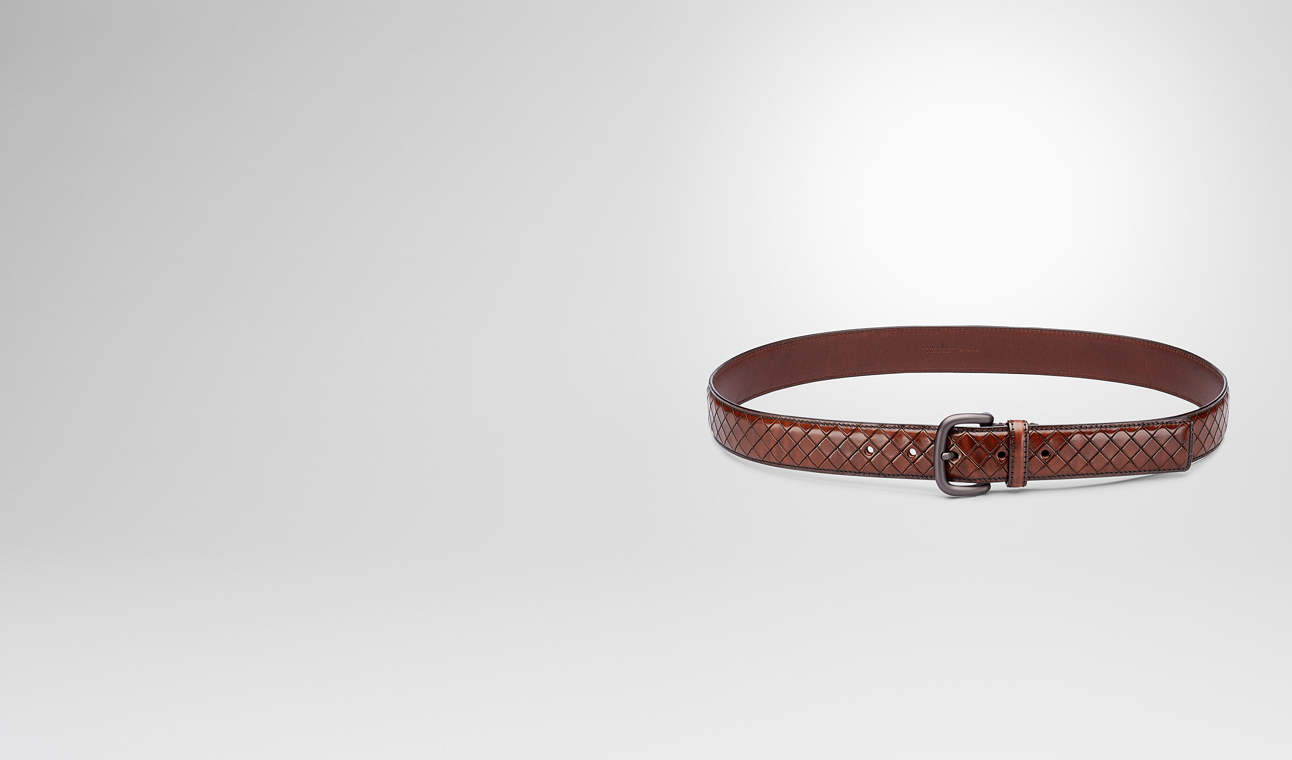 BOTTEGA VENETA Belt U BELT IN EBANO CALF pl