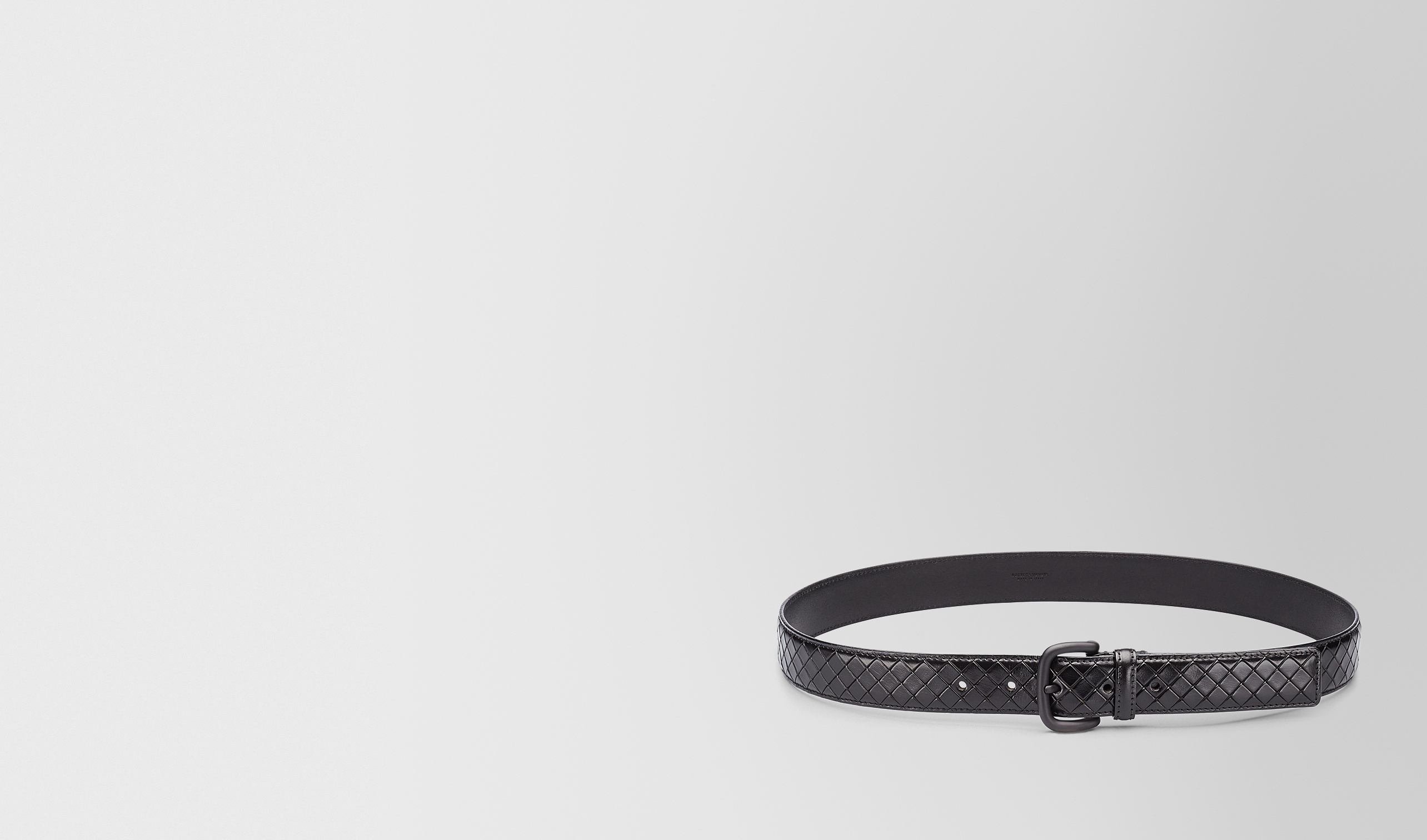BOTTEGA VENETA Belt U BELT IN NERO CALF pl