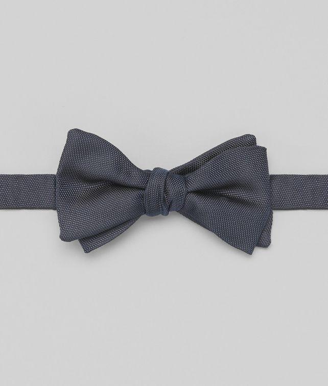BOTTEGA VENETA Navy Silk Bow Tie Tie U fp