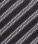 BOTTEGA VENETA Black Grey Silk Tie Tie U ap