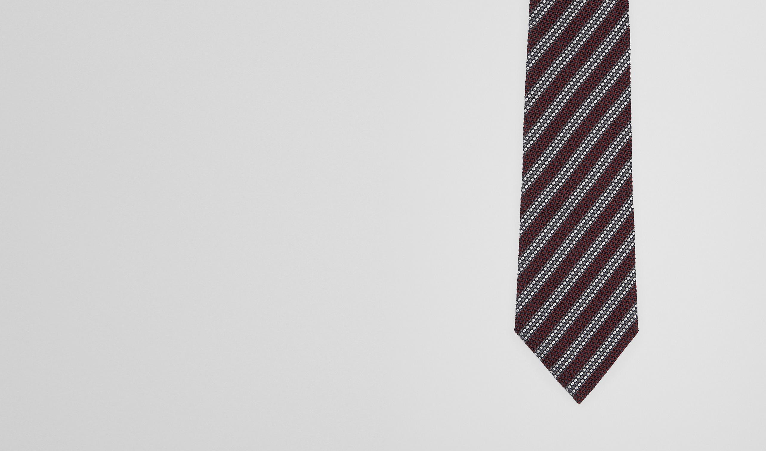 BOTTEGA VENETA Tie U Amaranth Dark Grey Silk Tie pl